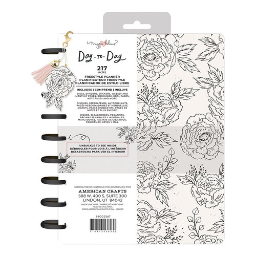 Maggie Holmes - Day to Day Planner Collection - Freestyle Disc Planner - Black and White
