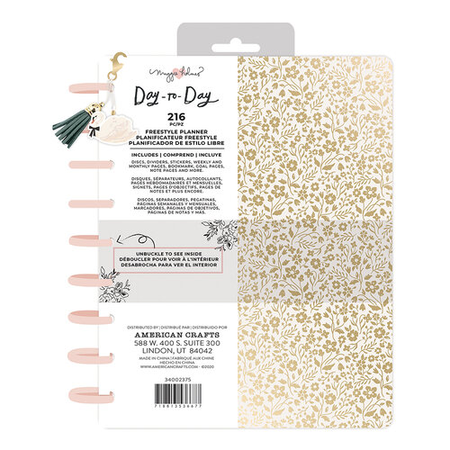 Maggie Holmes - Day to Day Planner Collection - Freestyle Disc Planner - Gold Floral