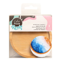 American Crafts - Color Pour Resin Collection - Wood Tray Coasters