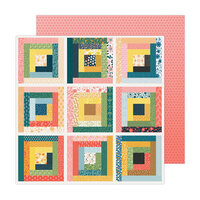 Paige Evans - Bungalow Lane Collection - 12 x 12 Double Sided Paper - Paper 1