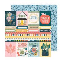 Paige Evans - Bungalow Lane Collection - 12 x 12 Double Sided Paper - Paper 23