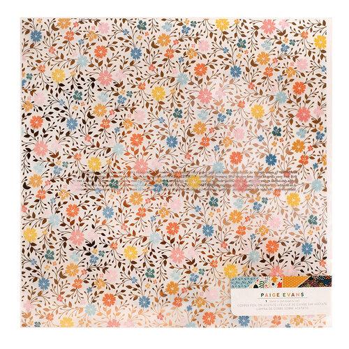 Paige Evans - Bungalow Lane Collection - 12 x 12 Specialty Paper - Acetate with Copper Foil Accents