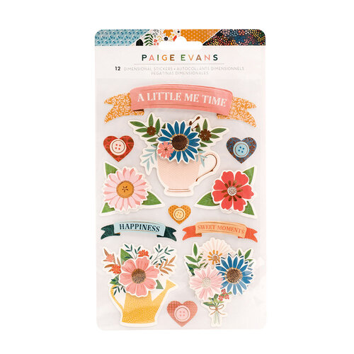 Paige Evans - Bungalow Lane Collection - Stickers - Layered Banners with Gold Foil Accents