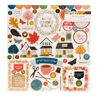 Paige Evans - Bungalow Lane Collection - 12 x 12 Chipboard Stickers with Copper Foil Accents
