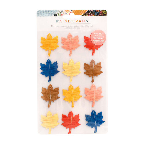 Paige Evans - Bungalow Lane Collection - Stickers - Leaf Embellishments