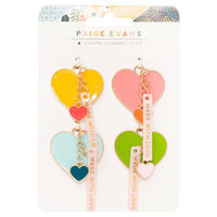 Paige Evans - Bungalow Lane Collection - Resin Heart Charms