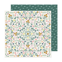 Maggie Holmes - Market Square Collection - 12 x 12 Double Sided Paper - Flower Shop