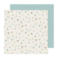 Maggie Holmes - Market Square Collection - 12 x 12 Double Sided Paper - Meadow Stroll