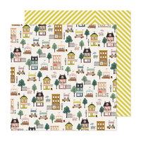 Maggie Holmes - Market Square Collection - 12 x 12 Double Sided Paper - Main Street