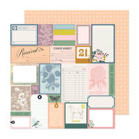 Maggie Holmes - Market Square Collection - 12 x 12 Double Sided Paper - Lovely Day