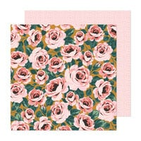 Maggie Holmes - Market Square Collection - 12 x 12 Double Sided Paper - Full Bloom