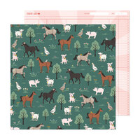 Maggie Holmes - Market Square Collection - 12 x 12 Double Sided Paper - On The Farm