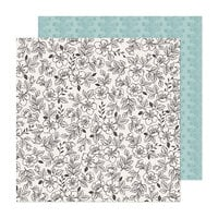 Maggie Holmes - Market Square Collection - 12 x 12 Double Sided Paper - Blooming