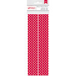 American Crafts - Everyday - Paper Straws - Crimson Dot