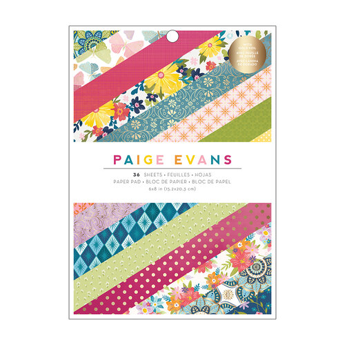 Paige Evans - Wonders Collection - 6 x 8 Paper Pad - Gold Foil Accents