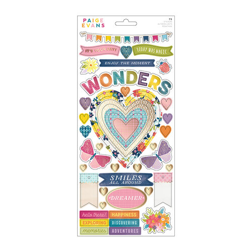 Paige Evans - Wonders Collection - 6 x 12 Sticker Sheet - Gold Foil Accent