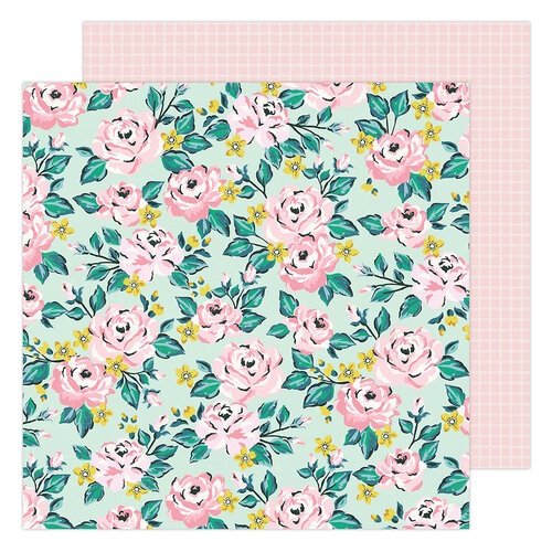 Maggie Holmes - Garden Party Collection - 12 x 12 Double Sided Paper - Blooming