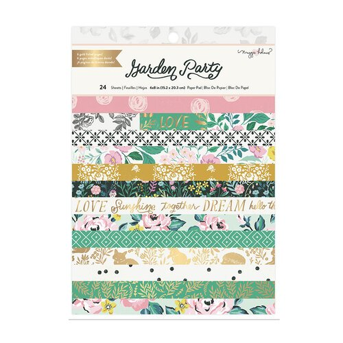 Maggie Holmes - Garden Party Collection - 6 x 8 Paper Pack - Gold Foil Accents