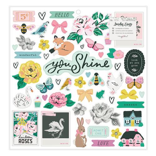Maggie Holmes - Garden Party Collection - 12 x 12 Chipboard Sticker Sheet