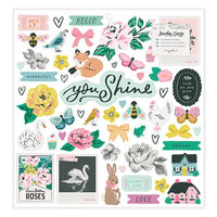 Maggie Holmes - Garden Party Collection - 12 x 12 Chipboard Sticker Sheet