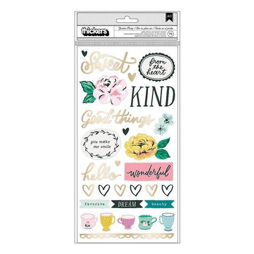 Maggie Holmes - Garden Party Collection - Thickers - Lovely - Phrases and Icons - Gold Foil Accents
