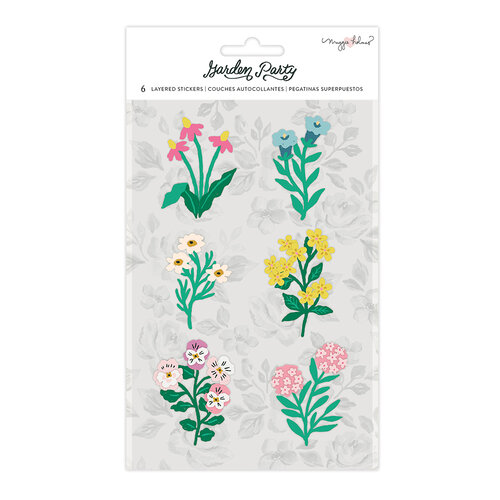 Maggie Holmes - Garden Party Collection - Layered Paper Stickers