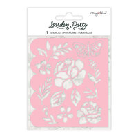 Maggie Holmes - Garden Party Collection - Stencils - Flower Builder