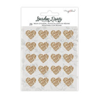 Maggie Holmes - Garden Party Collection - Resin Stickers - Gold Glitter Accent