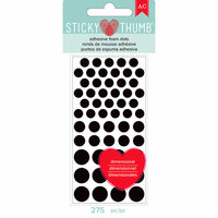 American Crafts - Adhesives - 3 Dimensional Foam - Sticky Thumb - Black Dots