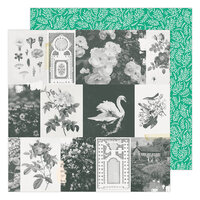 Maggie Holmes - Garden Party Collection - 12 x 12 Double Sided Paper - Garden Greens