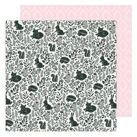 Maggie Holmes - Garden Party Collection - 12 x 12 Double Sided Paper - Garden Friends