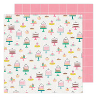 Maggie Holmes - Garden Party Collection - 12 x 12 Double Sided Paper - Pastry Party