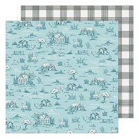 Maggie Holmes - Garden Party Collection - 12 x 12 Double Sided Paper - Gingham Grove