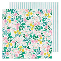 Maggie Holmes - Garden Party Collection - 12 x 12 Double Sided Paper - Wildflower