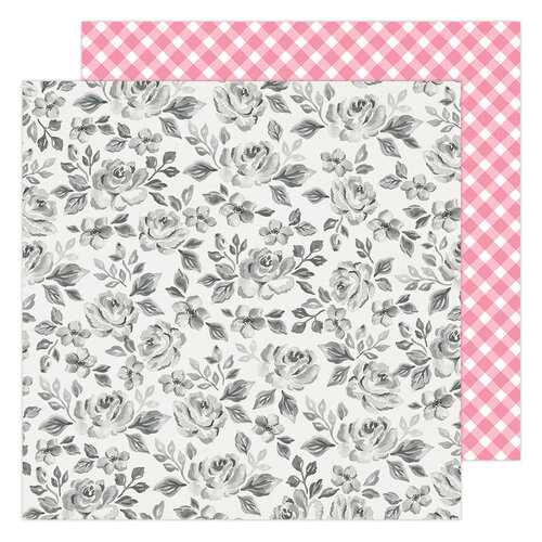 Maggie Holmes - Garden Party Collection - 12 x 12 Double Sided Paper - Rose Bush