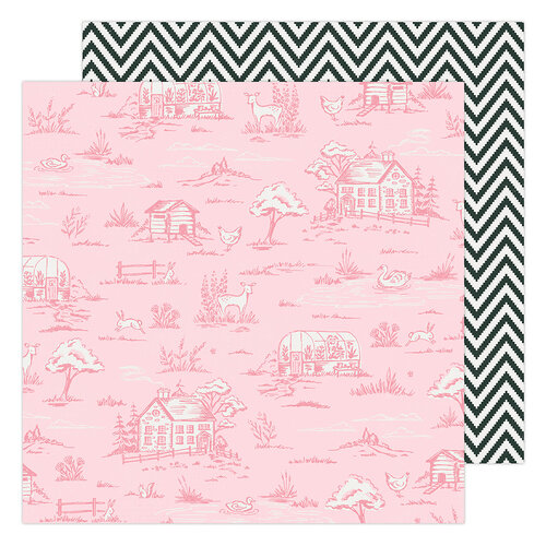 Maggie Holmes - Garden Party Collection - 12 x 12 Double Sided Paper - Countryside