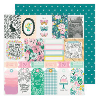 Maggie Holmes - Garden Party Collection - 12 x 12 Double Sided Paper - Happy Day