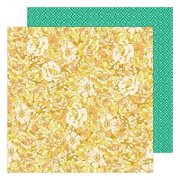 Maggie Holmes - Garden Party Collection - 12 x 12 Double Sided Paper - Cluster of Blooms