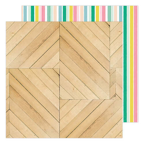 Maggie Holmes - Garden Party Collection - 12 x 12 Double Sided Paper - Trellis