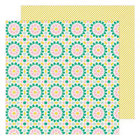 Maggie Holmes - Garden Party Collection - 12 x 12 Double Sided Paper - Lattice