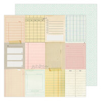 Maggie Holmes - Garden Party Collection - 12 x 12 Double Sided Paper - Taking Notes