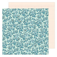 Maggie Holmes - Garden Party Collection - 12 x 12 Double Sided Paper - Blossom In Blue
