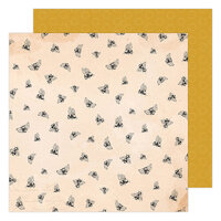 Maggie Holmes - Garden Party Collection - 12 x 12 Double Sided Paper - Honey Bees