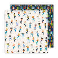 Jen Hadfield - Reaching Out Collection - 12 x 12 Double Sided Paper - Dance It Out
