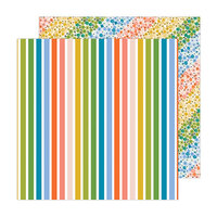 Jen Hadfield - Reaching Out Collection - 12 x 12 Double Sided Paper - Rainbow Skies