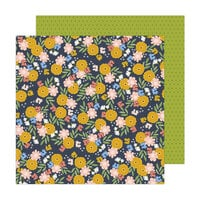 Jen Hadfield - Reaching Out Collection - 12 x 12 Double Sided Paper - Friendship Floral