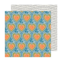 Jen Hadfield - Reaching Out Collection - 12 x 12 Double Sided Paper - Tie Dye Hearts
