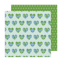 Jen Hadfield - Reaching Out Collection - 12 x 12 Double Sided Paper - One World