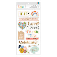 Jen Hadfield - Reaching Out Collection - Thickers - Phrase - Gold Foil Accents