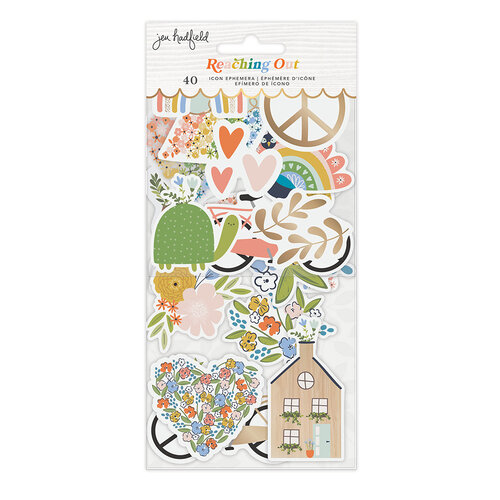 Jen Hadfield - Reaching Out Collection - Ephemera - Icons - Gold Foil Accents